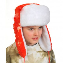 Шапка-ушанка красная К 6052