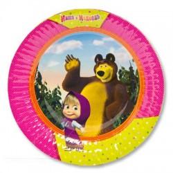 Тарелка бум Маша и Медведь 17см 6шт/G (4690390153866)