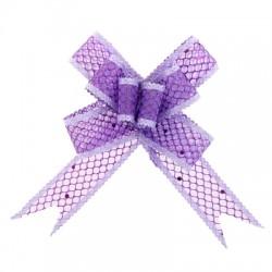 Бант-бабочка №2,3 органза паутинка с блёстками, фиолетовый 828004