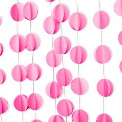 Подвеска Круги, Розовый, 200см