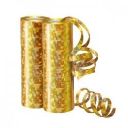 Серпантин фольгированный Голография Золотой 4 м / 2 шт. (36 колец) (Китай)