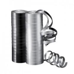 Серпантин фольгированный Металл Микс Серебряный и черный 4 м / 2 шт. (36 колец) (Китай)