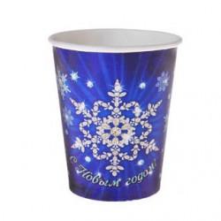 Набор стаканов С новым годом снежинка 6 шт