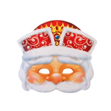 Маска карнавальная Дед Мороз 27х24см
