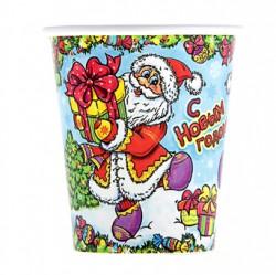 Набор стаканов С новым годом! Дед мороз 6 шт
