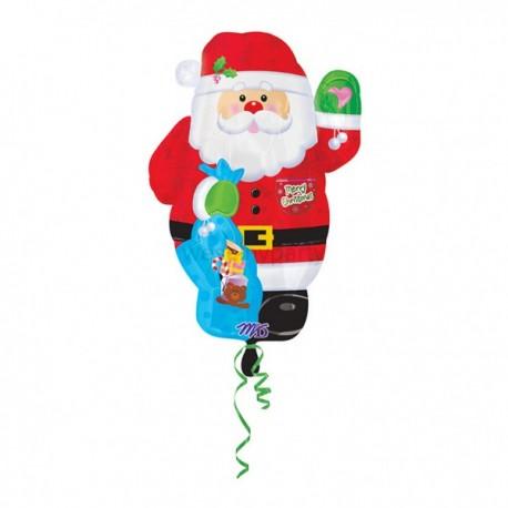A Фигура 625 Новый год Санта шар фольга