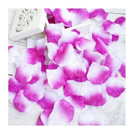 лепестки роз фиолето-белый 324796