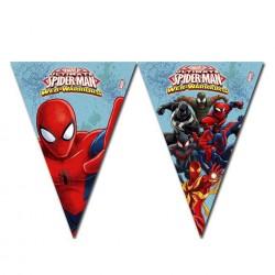 "P Гирлянда-вымпелы 2,3 м ""Человек-Паук"" / Ultimate Spiderman Web Warriors / 1 шт. / (Китай)"