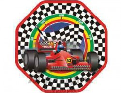 Тарелка бум восьмиуг Формула1 25см 6шт/G