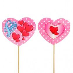 "Топпер ""LOVE"" сердечки 2858246"