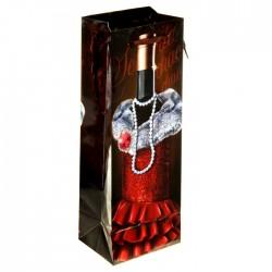 Пакет ламинат под бутылку Кармен 10×36см