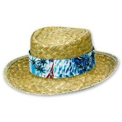 Шляпа соломенная Гавайи с цветной лентой