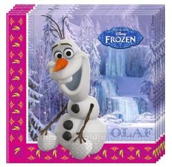 """P Салфетки 33*33 см """"Холодное Сердце. Альпы"""" Олаф / Frozen Alpine / набор 20 шт. / (ЕС)"""