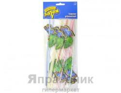 Набор трубочек Синие бабочки 12шт