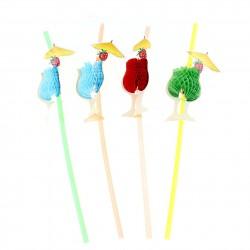 Набор трубочек Бокал с зонтиком 12шт