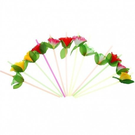 Набор трубочек Цветок 12шт