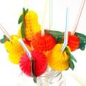 Набор трубочек Фрукты разноцветные 12шт