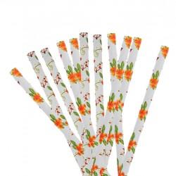 Набор трубочек Цветы 20 шт