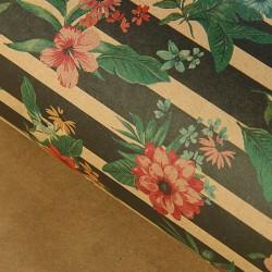 Бумага упаковочная крафт Цветочные линии 70х100см
