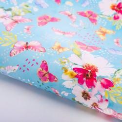 Бумага упаковочная глянцевая Бабочки в саду 70х100см
