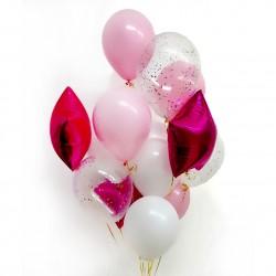 Набор шаров Розовое сияние