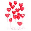 Фонтан из 15 больших сердец