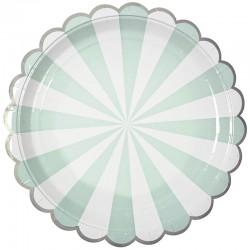 Тарелки Узор с серебряной каймой, Тиффани, 7 дюймов, 6шт