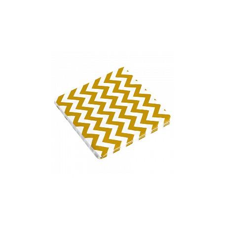 Салфетки Золотые зигзаги, 32*32, 20шт