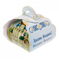 """Коробочка подарочная для яйца """"Христос Воскресе. Храм"""" 13,4*26,2 см 1746987"""