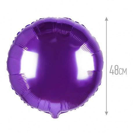 Шар Круг Фиолетовый 48см