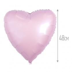 Сердце Светло-розовое 48см