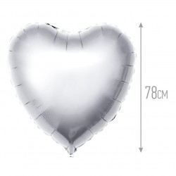 И 32 Сердце Серебро / Heart Silver / 1 шт / (Испания) (80 см)