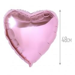 Шар фольгированный Сердце 45 см Розовый нежный