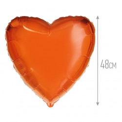 Сердце Оранжевый 48см