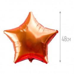 Шар Оранжевый Звезда 48см