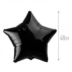 Шар черный Звезда 48см