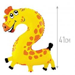 Шар с клапаном Цифра, 2 Жираф
