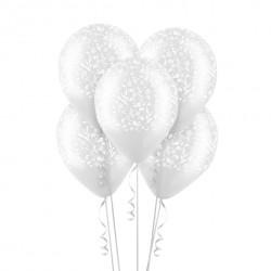 Набор из 5 шаров Изящный орнамент Прозрачный 30 см