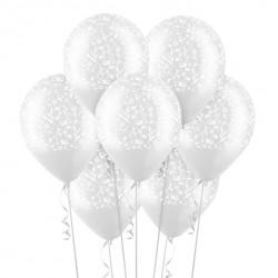 Набор из 7 шаров Изящный орнамент Прозрачный 30 см