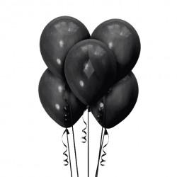 Набор из 5 шаров Черный Матовый 30 см
