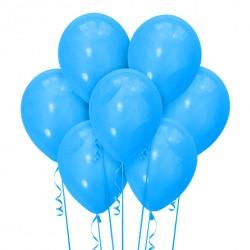 Набор из 7 шаров Голубой Матовый 30 см