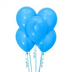 Набор из 5 шаров Голубой Матовый 30 см
