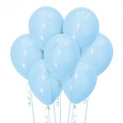 Набор из 7 шаров Light Blue Матовый 30 см