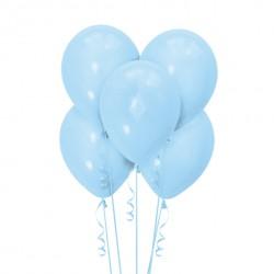 Набор из 5 шаров Light Blue Матовый 30 см