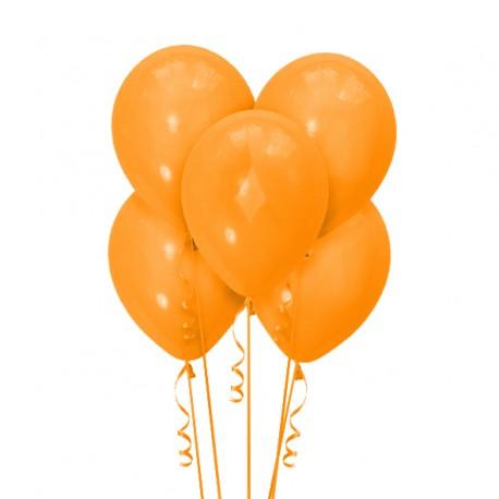 Набор из 5 шаров Orange Матовый 30 см