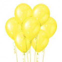 Набор из 7 шаров Yellow Металлик 30 см