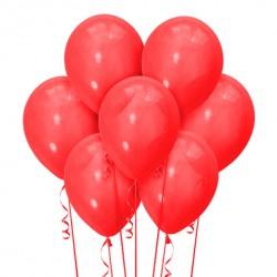 Набор из 7 шаров Красный Матовый 30 см