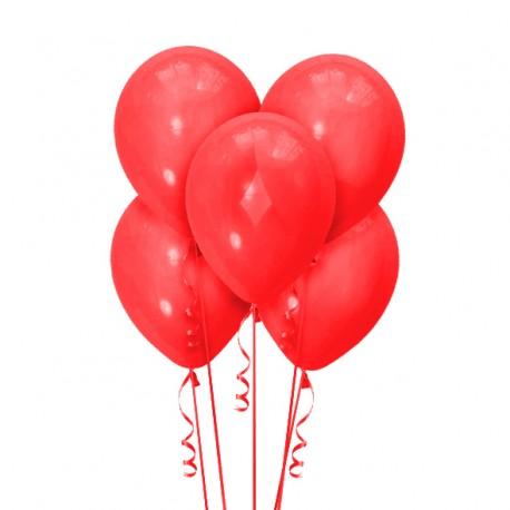 Набор из 5 шаров Красный Матовый 30 см - «Япраздник»