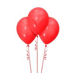Набор из 3 шаров Красный Матовый 30 см