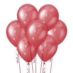Набор из 7 шаров Cherry Red Металлик 30 см